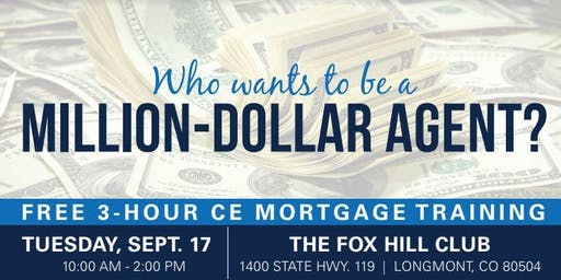 RSVP HERE-Million Dollar Agent Training w/Freddie Mac & MGIC - 3 CE Credits