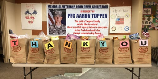 "11th Annual Veterans' Food Drive in Memory of William ""Tex"" McAleer"
