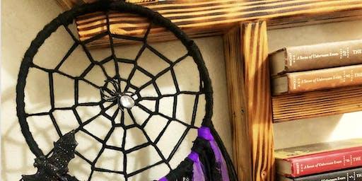 Halloween spider web dreamcatcher