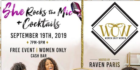 SHE Rocks The Mic + Cocktails tickets