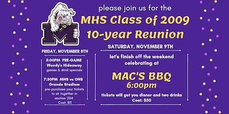 Midland High School Class of 2009 - 10-year Reunion tickets