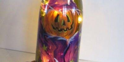 Halloween Lighted Wine Bottle Event