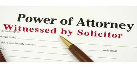 Simei: Preparation & Signing of Lasting Power of Attorney(LPA) - Oct 12 (Sat)  tickets