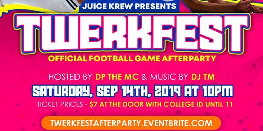 TwerkFest Football Game After Party