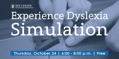 Experience Dyslexia Simulation tickets