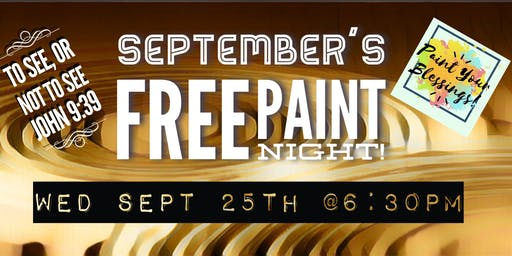 September's FREE Paint Night- Paint Your Blessings