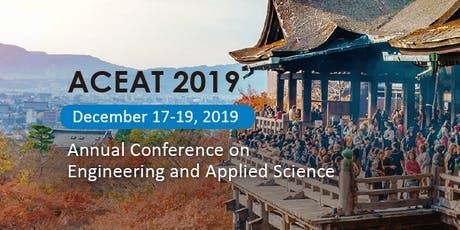 2019 ACEAT @ Kyoto Green Technology and Environment Sustainability tickets