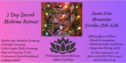 3 Day Sacred Medicine Retreat (Aya-huambisa, Bufo-huasca, Psilocybin)