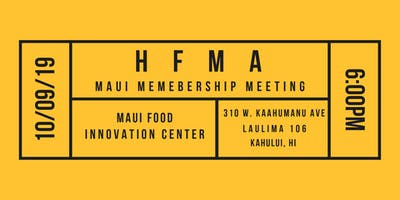 HFMA Maui Membership Meeting