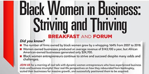 Black Women in Business:  Striving and Thriving!  Breakfast and Forum