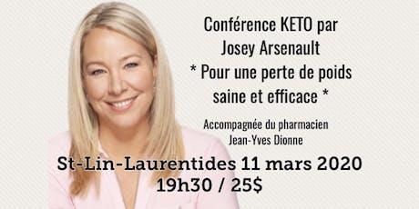ST-LIN-LAURENTIDES - Conférence KETO - Pour une perte de poids saine et efficace! 25$ billets