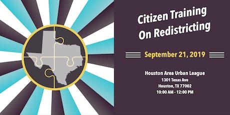 Citizen Training on Redistricting tickets