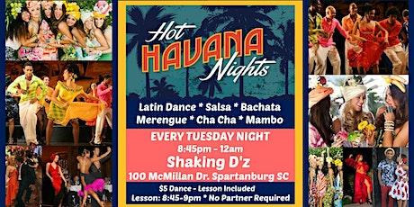 Hot Havana Nights Latin Dance - Salsa & Bachata Dance & Lesson tickets