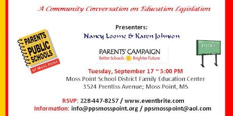 A Community Conversation on Education Legislation tickets