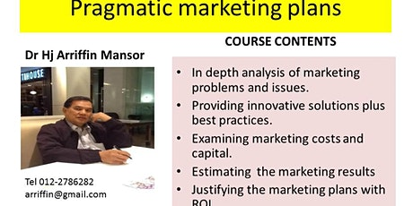 PRAGMATIC MARKETING and Budgeting :  the model and formula approach  tickets