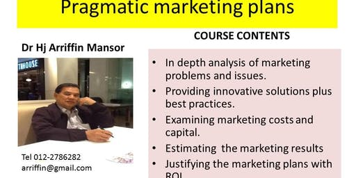 PRAGMATIC MARKETING :  the model and formula approach to marketing