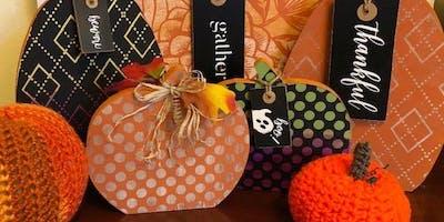 Sip N Chalk Pumpkin cutouts
