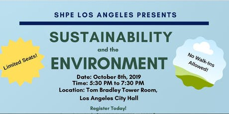 SHPE LA's Hispanic Heritage Month Event - Sustainability and the Future 2019 tickets