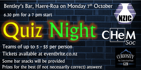 ChemSoc + NZIC Quiz  tickets