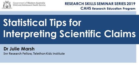 Research Skills Seminar: Statistical Tips for Interpreting Scientific Claims - 18 October tickets