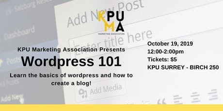 KPUMA Presents: Wordpress 101 tickets