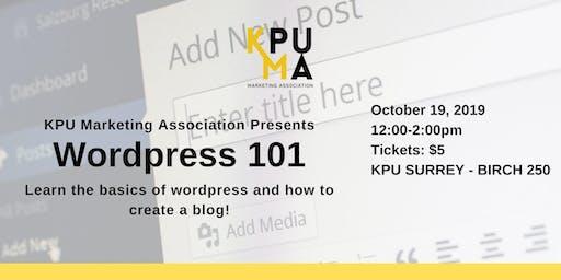 KPUMA Presents: Wordpress 101