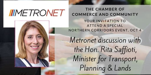 Metronet Business Breakfast October 4 with Rita Saffioti - Chamber Of Commerce And Community