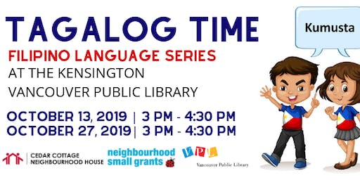 Tagalog Time at VPL: Colours & Food