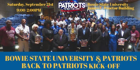 Bowie State University and Patriots Back to Patriots Kick-Off tickets