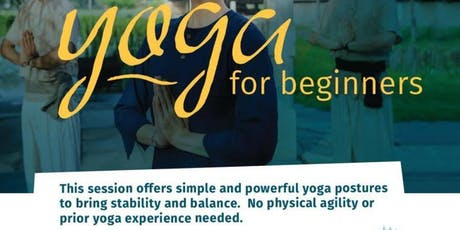 Yoga for Beginners - Free open to all 7 age & above tickets