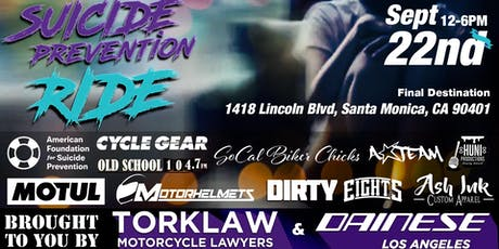 Annual Suicide Prevention & Mental Health Awareness Community Ride Event tickets