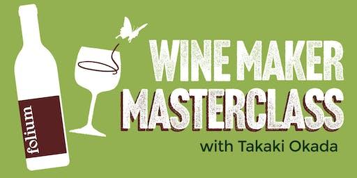 Folium Wine Maker Masterclass with Takaki Okada at HB&K