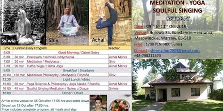 Meditation, Yoga & Soulful Singing Retreat in Konstancin-Jeziorna, Warsaw tickets