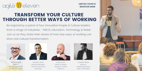 Transform Your Culture Through Better Ways of Working tickets