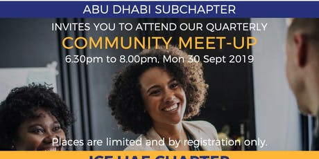 ADSC Community Event ICF UAE Chapter Members' Townhall tickets