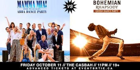 Mamma Mia! vs Bohemian Rhapsody - ABBA & Queen Dance Party tickets