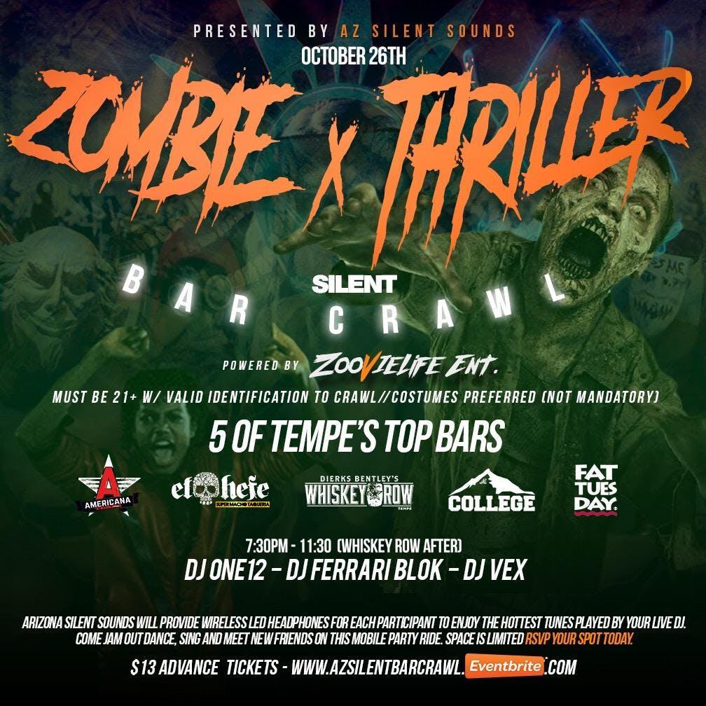 Zombie Thriller Silent Bar Crawl