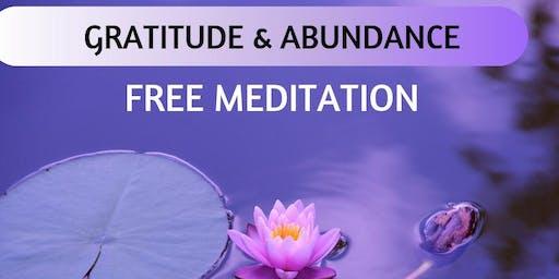 FREE Meditation- Gratitude and Abundance on 28th September 2019.