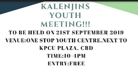 KALENJINS YOUTH FORUM!!!! tickets