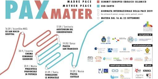 Pax Mater - Giornata internazionale della Pace 2019