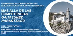 Conferencia de Competitividad del País Vasco 2019...