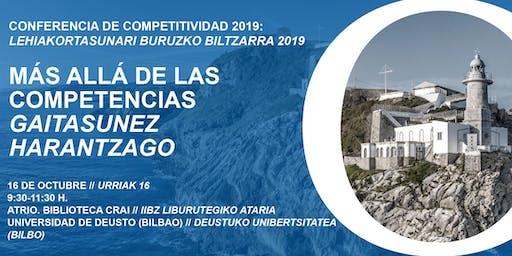 Conferencia de Competitividad del País Vasco 2019    EAEko Lehiakortasunari buruzko 2019ko biltzarra