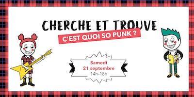 Jeu Cherche et Trouve So Punk du Bon Marché Rive Gauche