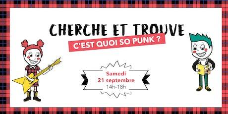 Jeu Cherche et Trouve So Punk du Bon Marché Rive Gauche billets