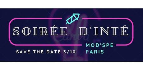 Soirée d'intégration MOD'SPE PARIS 2019 billets