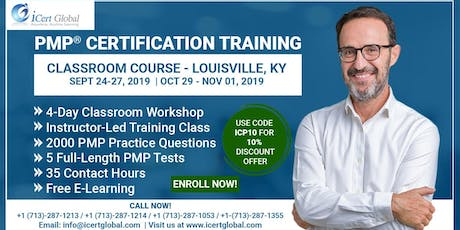 PMP® Certification Training Course in Louisville, KY, USA | 4-Day PMP® Boot Camp with PMI® Membership and PMP Exam Fees Included. tickets