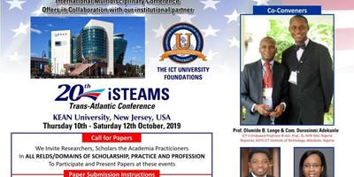 iSTEAMS Trans-Atlantic Conference  KEAN University, New Jersey, USA 2019.