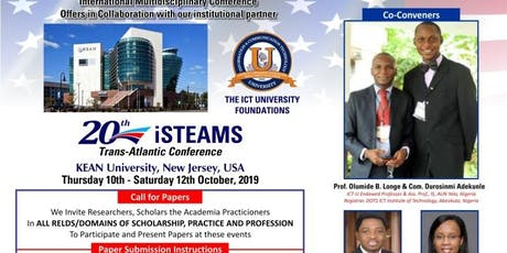iSTEAMS Trans-Atlantic Conference  KEAN University, New Jersey, USA 2019. tickets