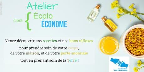 Atelier Ecolo c'est Econome au Kiosque Citoyen Paris 12 billets