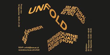 Unfold: The Ravensbourne Postgraduate Degree Show tickets